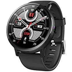 Yunn LEMFO LEMX 4.0 Bluetooth 4G Ip67 Reloj Inteligente de Lujo a Prueba de Agua, Android 7.1,1GB RAM 16 GB en Flash, 2.03 Pulgadas 900Mah Cámara de 8MP, Reloj GPS Corriendo para Hombres