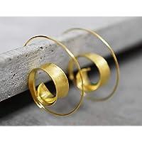 925 vergoldete Spiral Ohrringe BRUNEI | Boheme-Stil | Geschenkverpackung Schmuckschachtel | tolle Geschenkidee