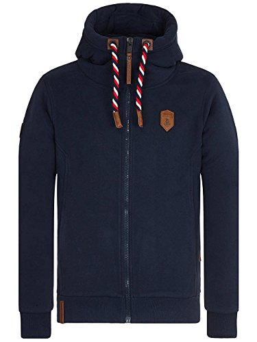 Naketano Male Zipped Jacket Birol Jeck VI Dark Blue