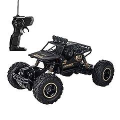 Idea Regalo - LBLA Auto telecomandata per Bambini, Macchina Radiocomandata, RC Monster Truck 1:16 , Regalo per Ragazzi (Nero)