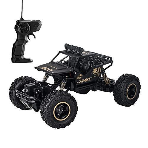 RC Monster Truck, Elektro-Radio-Fernbedienung / Radio Control Auto, Geländewagen 1:16 Wiederaufladbare 2,4 GHz Rock Climber Riesen 4 Rad Racing Auto Spielzeug Geschenk für Jungen (schwarze Farbe)