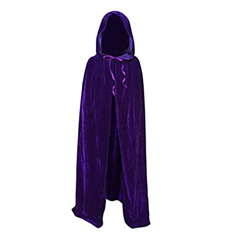 ESHOO Child Kids Cloak Halloween Velvet Hooded Cape Fancy Costume