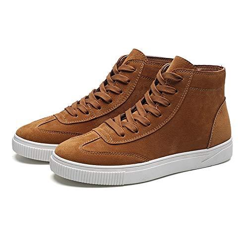 serliy Männer Freizeitschuhe Vorne Schnürstiefeletten Schuhe Casual High Vintage Herrenschuhe...