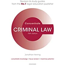 Criminal Law Concentrate: Law Revision and Study Guide