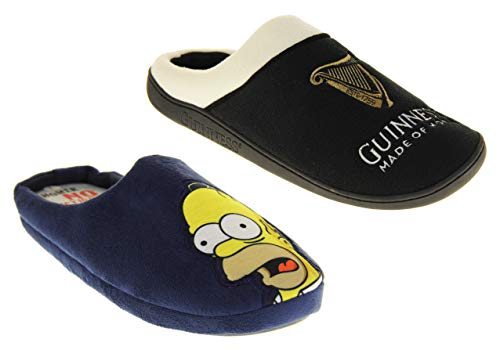 Hommes Simpsons Guinness Chaussons Mules Pantoufles