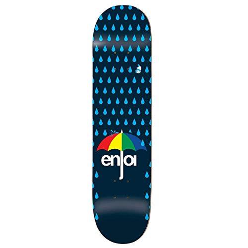 Enjoi Skateboard Komplett Raining Panda Soft Wheels - 7.625 Inch Dark Blau (One Size, Blau)