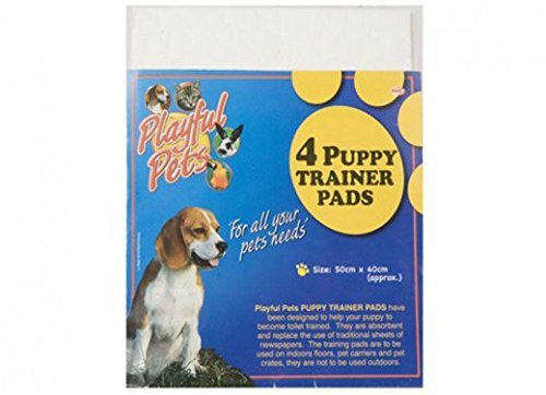 4 Puppy Trainer Pads Toilet Training Urin Hund Katze Pet Absorbent Innen Wee Mats (Training Saugfähige Pads)