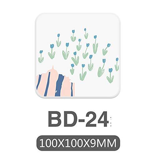 ZCHPDD Saugfähige Kieselgur-Boden-Dioxid-Schlamm-Wäsche-Platten-Untersetzer Bd-24 10 * 10 * 0.9Cm * 4Pcs -