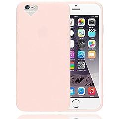 Idea Regalo - NALIA Cuore Custodia per iPhone 6S 6, Protezione Ultra-Slim Case Cover Protettiva Morbido Cellulare in Silicone Gel, Gomma Bumper Sottile per Telefono Apple iPhone 6S 6 Smartphone, Colore:Rosa