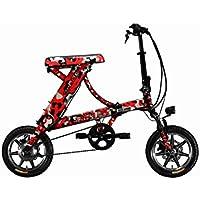 rich bit® nuovo aggiornamento rt-68836V * 250W bici elettrica City ibrido da ciclismo impermeabile telaio interno Li-on batteria di qualità in lega telaio pieghevole in alluminio, forcella di sospensione ruota piccolo piccolo 35,6cm