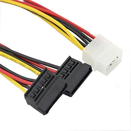 TAOtTAO In zwei Netzkabel aufgeteilt Neues 4Pin IDE Molex zu 2 Serial ATA SATA Y Splitter Festplatten-Stromversorgungskabel