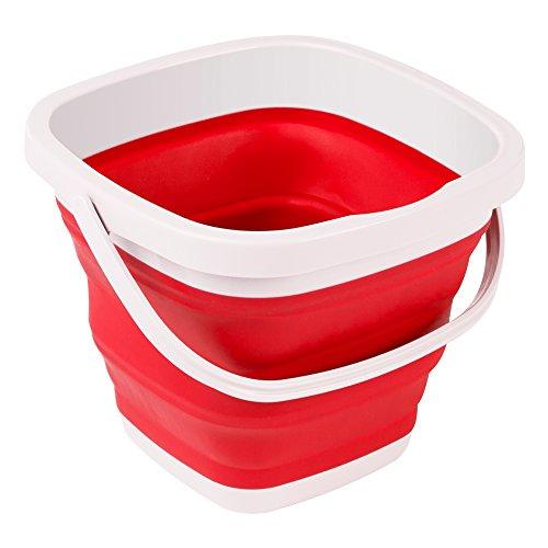 ColorBaby - Cubo plegable rojo y blanco