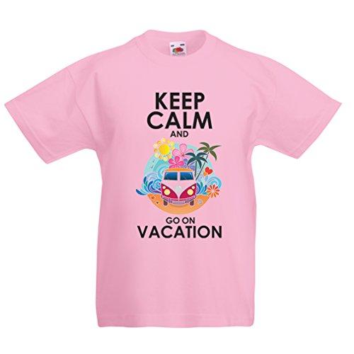 (lepni.me Kinder Jungen/Mädchen T-Shirt Gehen Sie auf Urlaub, Nette Outfits, Strandkleidung, Resortabnutzung (1-2 Years Pink Mehrfarben))