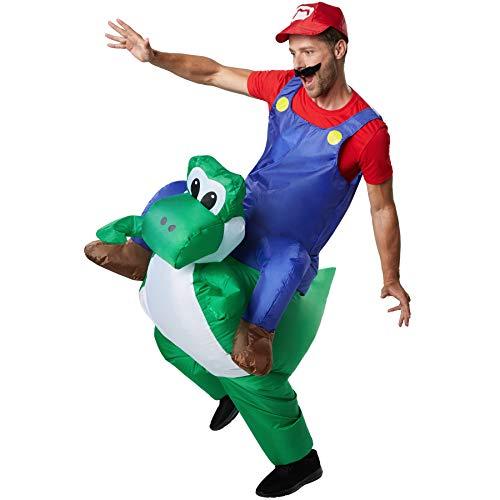 dressforfun 302351 - Aufblasbares Unisex Kostüm Italienischer Klempner auf dem Rücken (Super Mario Kostüm)