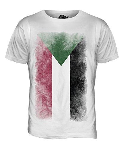 CandyMix Sudan Verblichen Flagge Herren T Shirt Weiß