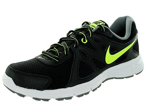 Nike revolution 2 - Scarpe da corsa, Uomo, colore Nero (black/volt-cool grey), taglia 42