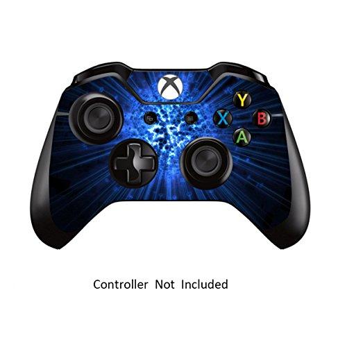 Designfolie Sticker - Vinyl Aufkleber Schutzfolie Skin für Xbox One Controller Blue Explosion ()