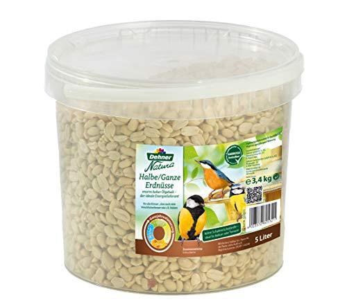 Dehner Natura Wildvogelfutter, halbe/ganze Erdnüsse, 3,4 kg
