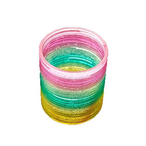 Beito 1 stücke 3,42 * 3,54 Zoll Regenbogen Frühling Kreis Magie Hula Hoop Regenbogen Spule Frühling Großes Geschenk Für Kinder Geburtstag (zufällige Farbe)