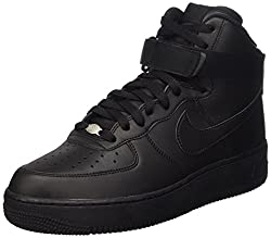 Nike Mens Air Force 1 High 07 Basketball Shoes Black/Black 10 D(M) US