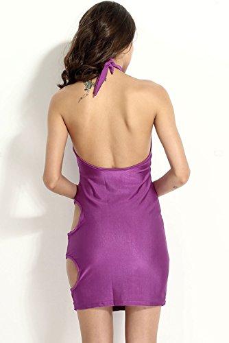 E-Girl femme Violet SY21071 robe de cocktail Violet