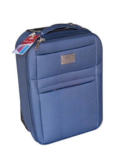 chariot-valise-en-polyester-semi-rigide-cabine-taille-italian-brand-gmv-cabin-size-ryanair-easyjet-l