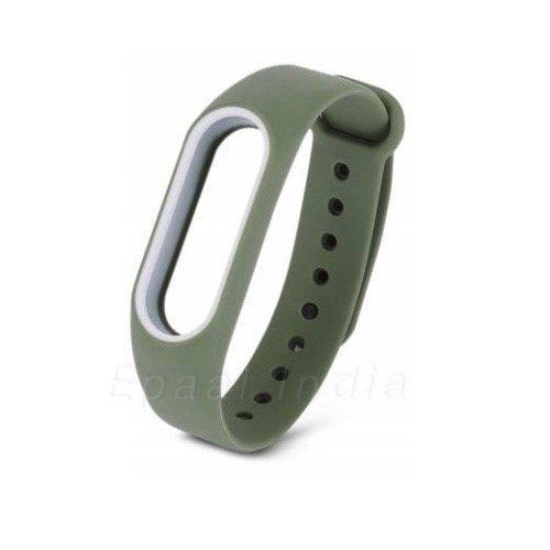 Epaal® Xiaomi Mi Band 2 & Mi HRX Band Dual Color Wearable Wristband Smartband Strap Silicone Case
