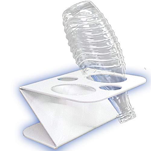 Abtropf-gestell und Flaschen-ständer . Zubehör für 2 Sodasteam Glasflaschen für z.B. Soda-stream Crystal Source Easy Cool Abtropfgestell Trockenständer Abtropfständer aus Acryl. Einführungs-Angebot !
