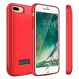 Coque de Batterie pour iPhone 8 Plus/7 Plus, 5500 mAh Portable Chargeur de Batterie...