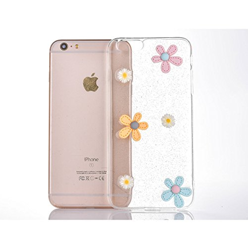iPhone 6s Coque, Sunroyal [Liquid Crystal] Case Coque Housse Etui Ultra Mince Hybrid TPU Silicone,[Extrêmement Mince Souple et Flexible] [Peau Transparente] [Shock-Absorption Bumper et Anti-Scratch Ef Motif 04