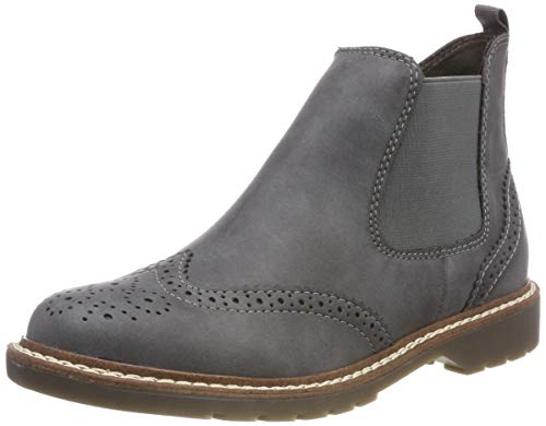 s.Oliver Damen 25444-21 Chelsea Boots, Grau (Anthracite 214), 39 EU