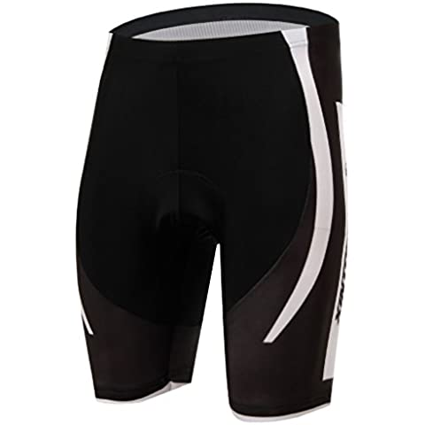 TeyxoCo Ciclismo Sportivo Men Bright Sportwear Padded Shorts M