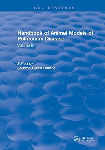 Crc Handbook Of Animal Models Of Pulmonary Disease: Volume Ii por Jerome Owen Cantor epub