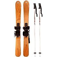 LEYOUDIAN Huaxueban Árbol de Ceniza esquís de Madera Tablero Doble Tabla de Snowboard Universal para niños Adultos para Adultos (Tamaño : 125CM*7CM)