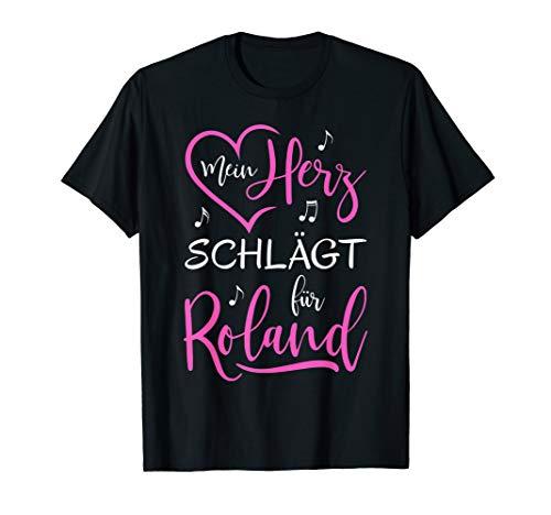 Mein Herz schlägt für Roland I love Ich liebe Roland T-Shirt (Ich Liebe Dich-t-shirt)
