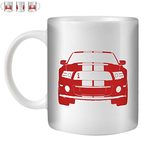stuff4-taza-de-cafe-te-350ml-rojo-mustang-gt500-ceramica-blanca-st10