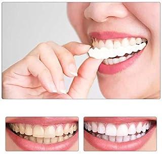 GLEYDY 1 Paar Temporäre Lächeln Comfort Fit Kosmetische Zähne Prothese Zähne Top Cosmetic Veneer Temporary Smile Comfort Fit Cosmetic Teeth Denture Teeth Top Cosmetic Veneer,Weiß
