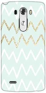 Snoogg Wavular Designer Protective Back Case Cover For LG G3
