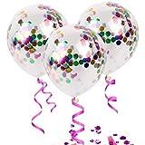 5 قطع من بالونات اللاتكس الشفافة القابلة للنفخ باللون البينك مقاس 12 بوصة لاعياد الميلاد - ديكور حفلات استقبال المولود