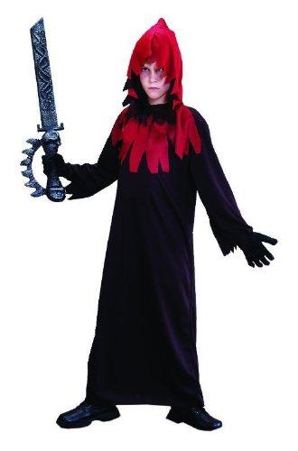 (Foxxeo 10080 | Kostüm Horror-Robe für Kinder, Größe:134/140)