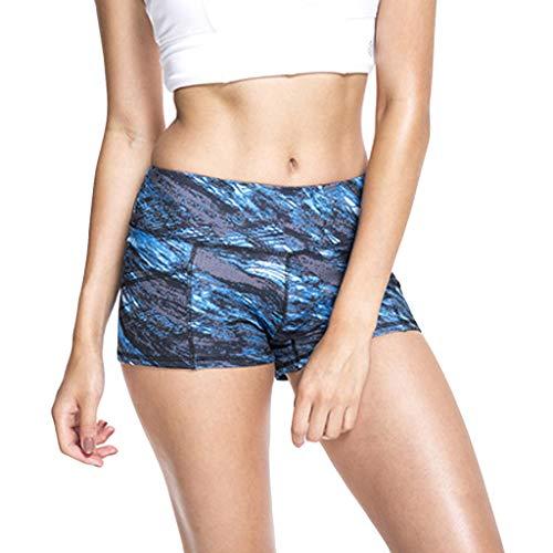 Setsail Damen Neue Trend Trainingsshorts, Bedruckte, hochfeste, schnell trocknende Sport-Fitness-Yoga-Shorts -
