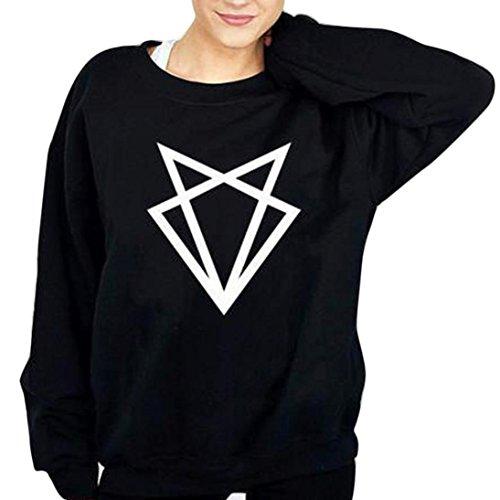 Bekleidung Longra Damen Langarm Sweatshirt Pullover Pullover Tops Bluse