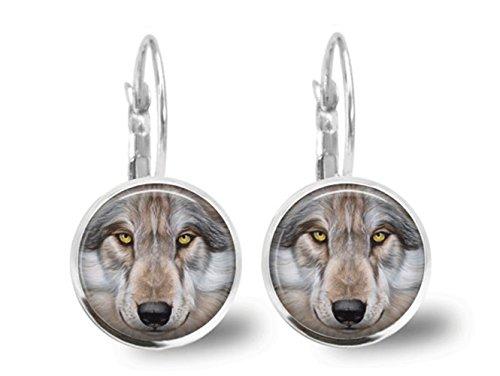 Wolf Ohrringe Fliesen Jewelry Tier Schmuck Perlen Schmuck