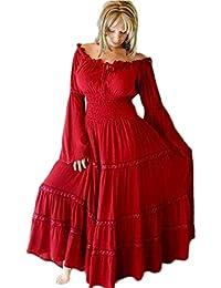 LOTUSTRADERS Damen Mexikanisches Bauernkleid