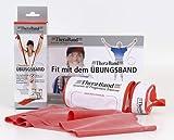 Thera-Band 2,5 m Übungsband Fitnessband Therapie Band im Beutel rot/mittel