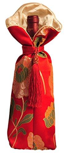 Wunderschönes Geschenkpapier rot matt Flasche Wein, für Geschenke und Home Party