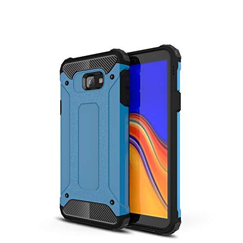 XunEda Samsung Galaxy J4 Core Hülle, Dual Layer Rüstung Handyhülle Hart PC Case Weichem Silikon TPU Schutzhülle Cover für Samsung Galaxy J4 Core Smartphone (Blau)