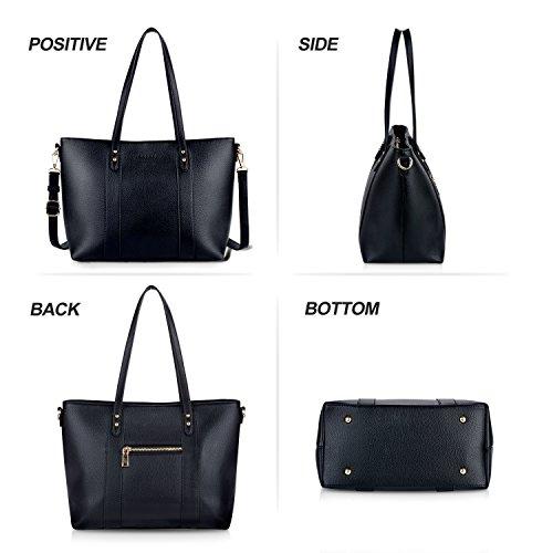Bageek Borsa Donna Borse Tote Nero Borsa Tracolla Donna Borse Donna in Pelle Sintetica Shopping Bag Borsa a Mano Borse a Spalla