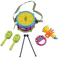 Bobury 5 PCS Unisex Muchacha del Muchacho de percusión Instrumentos Musicales Band Kit de niños de los niños Conjunto de Juguete de Regalo