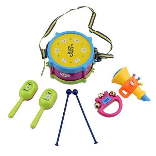 Masterein 5 PCS Unisex Junge Mädchen Drum Musikinstrumente Band Kit Kinder Kinder Spielzeug-Geschenk-Set